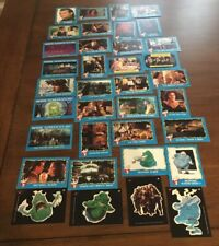 Lot Of 31 Ghostbusters Ii Trading Cards and 4 stickers