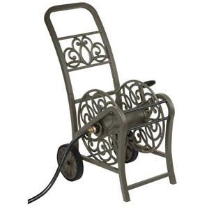 Hose Reel Cart 2 Wheel Durable Metal Crank Swivel Grip Outdoor Garden Backyard