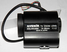 "Lens motor-zoom AVENIR SSL06036M 1/3"" 6 to 36mm f1.2 Motorized Zoom Lens"