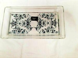 Art Deco Venezia Glass Fleur de Lys Dressing Table Tray Very Rare