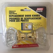 Mag Security Replacement Doorknobs Glass Knob Set X 2
