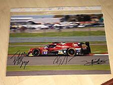 RGR Gonzalez,Senna,Albuquerque Autograph WEC Signed Signiert FOTO 20x30 *TOP*