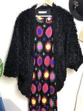MINK PINK Black Cardigan Fluffy Shrug Jacket XS-S 8-10 Boho Festival