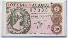 España Loteria Nacional del año 1945 edición facsimil (CO-236)
