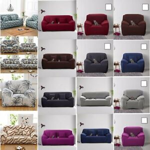 1-4 SEATERS SOFE COUCH COVER CORNER STRETCH SLIPCOVER EASY INSTAL FABRIC ELASTIC