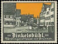Dinkelsbühl: Reklamemarke Nördlingerstraße mit Brunnen - 414395