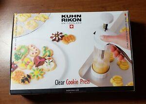 Spritz Cookie Press Clear 14 Design Disks by Kuhn Rikon Switzerland New
