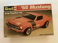 1968 Ford Mustang GT Model Revell 1/25th Scale Snap Together Kit Collectible