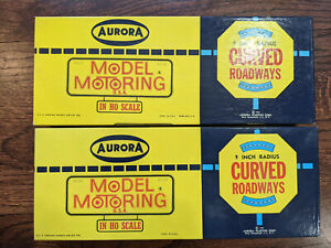 """AURORA Model Motoring HO Scale Boxed 9"""" Radius Curved Track #1519 LOT OF 2"""