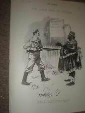 L ravenhill CARTOON JU JU Re del Benin V British SAILOR 1897 Old Print