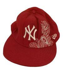 Men's New York Yankees 59 Fifty New Era Red Baseball Hat Cap Size 7 5/8 Nice