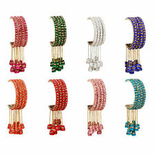 Indian Handmade Hanging Latkan Bangle Set Churi 4Pcs Bollywood Bridal  Jewelry