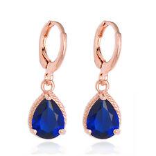 Female 18K Gold Plated Colorful Hoop Earrings Beautiful Cubic Zirconia Hot Sale