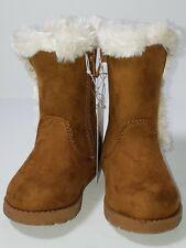 Toddler Girls' Katrina Fleece Fashion Boots - Cat & Jack- Chestnut brown 5