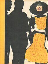 Publicité  advertising ( René Gruau )  BOUSSAC  (publicité double page)