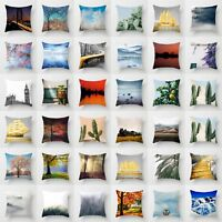 """Polyester Landscape Pillow Case Cushion Cover Waist Cover Square Home Decor 18"""""""