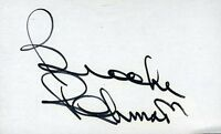 Brooks Robinson Signed Jsa Cert Sticker  3x5 Index Card Authentic Autograph