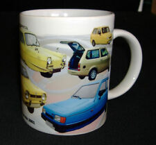 RELIANT ROBIN CLASSIC CAR MUG LIMITED EDITION DESIGN. PERSONALISE FREE OF CHARGE