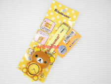 Genuined San-X Rilakkuma Brown Relax Bear Cutie Watch w/ Key Chain, Yellow Strap