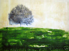 painting beeswax encaustic tree trees landscape green