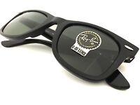 New Ray-Ban Sunglasses RB2140 Wayfarer 901 50 mm Black Frame Green Classic Lens