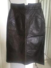 Women's Skirt Dark Brown Leather Knee Length Pencil