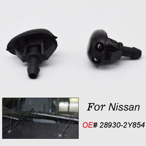 28930-2Y854 Pair Front Windscreen Washer Nozzle Jet For Nissan L31 WD22 T30 D22