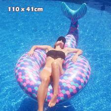 Inflatable Giant Mermaid Swim Ring Float Raft Swimming Pool Beach Water Toy Fun