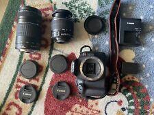 Canon Rebel T7 Premium Kit 18-55mm 75-300mm Lenses Battery Strap Bag & 32g SD