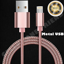 MFi Lightning Metal Fast Cable USB Charger for Apple iPhone 5S 6S Plus 8 X PINK