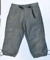 Alpine Design Womens Khaki Mid-Rise Cargo Cropped Pants SZ S LNC