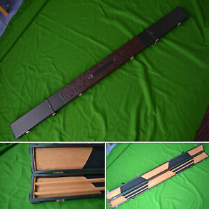 Handmade 1 Piece Wide Snooker Cue Case in Black - ( Holds 3 x 1 Piece Cues )