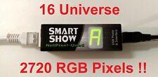 """SmartShow """"NetPixel-Quad"""" 16 Universe Pixel Driver (4 output) ArtNet SPI"""