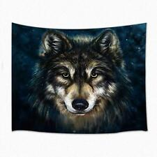 Wolf Tapestry Wall Hanging for Living Room Hippie Throw Bedroom Dorm Bedspread