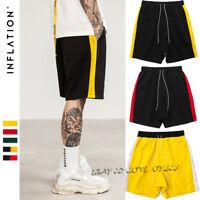 Men's Retro Sports Shorts Casual Shorts Side Stripe Football Basketball Shorts
