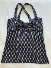 Women's Anthropologie Spotted Cross Over Vest Top Size Small
