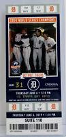 2019 Detroit Tigers Ticket Stub - 1984 World Series - Johnson, Kuntz