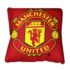 MANCHESTER UNITED FC SQUARE CREST CUSHION PILLOW BEDROOM SOFA NEW GIFT XMAS