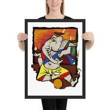 Indian Masters Collection Ganesha by M F Hussain Framed Poster