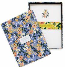Rifle Paper Co - Violet Floral Stationery Set, 12 Flat Notes & Envelopes (FLAW)