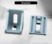 10 SET 40mm Aluminum Alloy T-slot  Framing Brackets for 4040 Extrusion