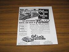 1948 Print Ad Olins U Drive It Rental Cars in Florida Miami,Jacksonville,Orlando