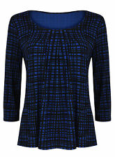 Polyester Check Tops & Shirts Plus Size for Women