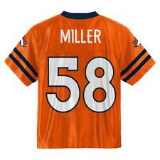 (2018-2019) Denver Broncos VON MILLER nfl Jersey YOUTH KIDS BOYS (m-medium)