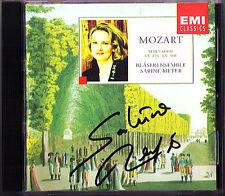 Sabine Meyer SIGNED Mozart bläserserenaden Serenade k.375 388 CD Albrecht Mayer