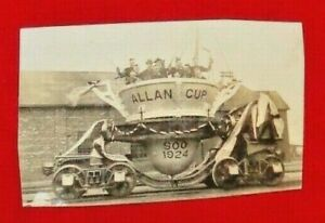 "RARE  Real Photo Postcard of 1924 ALLAN CUP CHAMPIONS ""SOO"" Hockey Team"