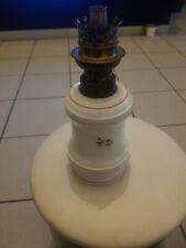 Ancienne  Très belle lampe a petrole en opaline w&w kosmos