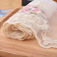 2 Yards Lace Fabric Flower Venise Trim Embroidered Sewing Craft Decoration
