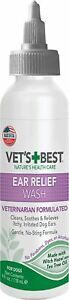 Dogs Ear Relief Wash Care Cleaner Treatment Prevent Infections - MADE in USA