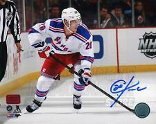 Chris Kreider New York Rangers Signed Autographed Away Action 16x20